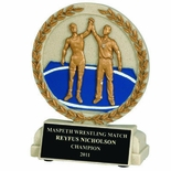 5-1/2 INCH WRESTLING STONE RESIN TROPHY