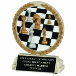 5-1/2 INCH CHESS BOARD CAST STONE TROPHY