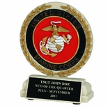 5-1/2 INCH U.S. MARINES STONE RESIN TROPHY