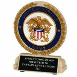 5-1/2 INCH U.S. NAVY STONE RESIN TROPHY