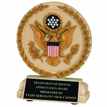 5-1/2 INCH  U.S. SEAL STONE RESIN TROPHY