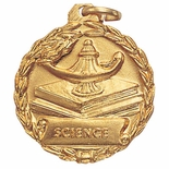 1-1/8 INCH MEDAL, SCIENCE