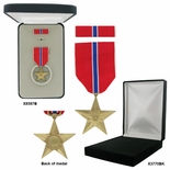 1-1/4 INCH BRONZE STAR MILITARY MEDAL