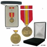 1-1/4 INCH NATIONAL DEFENSE SERVICE MILITARY MEDAL