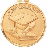 1-1/2 INCH GRADUATE MEDAL - MULTIPLE COLORS