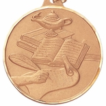 2 INCH SCHOLASTIC MEDAL, MULTIPLE COLORS