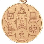 2 INCH SCIENCE MEDAL, MULTIPLE COLORS