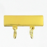 1X1/4 GOLD BAR WITH 2 LOOPS