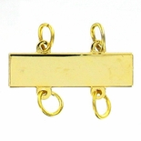 1X1/4 GOLD BAR WITH 4 LOOPS