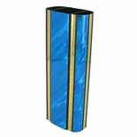 2-3/4 INCH OVAL PLASTIC SPLASH SERIES TROPHY COLUMN, BLUE