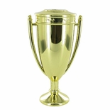 5-1/4 INCH METAL CUP WITH LID, GOLD