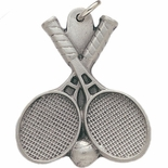 TENNIS PEWTER KEY CHAIN