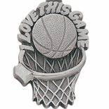 BASKETBALL PEWTER KEY CHAIN