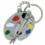 ARTIST/ART PALLET SATIN ANTIQUE PEWTER KEY CHAIN