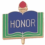 HONOR  PIN ENAMELED, GOLD