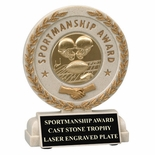 5-1/2 INCH SPORTSMANSHIP RESIN TROPHY, TAKES INSERT