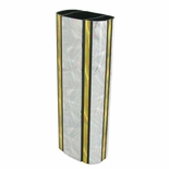 2-3/4 INCH OVAL PLASTIC MOONBEAM SERIES TROPHY COLUMN, SILVER