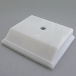 3 X 3-1/2 WHITE PLASTIC MARBLEIZED BASE