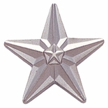 SILVER STAR PIN 3/4 INCH