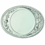 2-3/4 X 3-5/8 BELT BUCKLE SILVER FOR 2 INCH