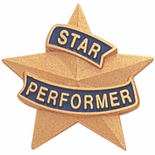 STAR PERFORMER PIN 7/8 INCH