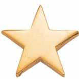 STAR PIN GOLD 3/4 INCH FLAT