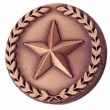 STAR PIN WITH WREATH 7/8 INCH