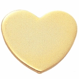HEART PIN GOLD FOR ENGRAVING