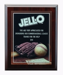 8 X 10 INCH FOOTBALL  PHOTO BASEBALL PLAQUE WITH LASER ENGRAVED PLATE
