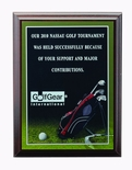 6 X 8 INCH GOLF PHOTO SPORTS PLAQUE WITH LASER ENGRAVED PLATE
