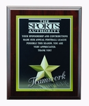 9 X 12 INCH TEAMWORK PHOTO SPORTS PLAQUE WITH LASER ENGRAVED PLATE