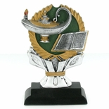 6 INCH RESIN LAMP OF LEARNING TROPHY WITHOUT PLATE