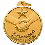 1-1/4 INCH DISTINGUISHED SERVICE AWARD, GOLD