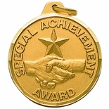 1-1/4 INCH SPECIAL ACHIEVEMENT AWARD, GOLD