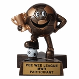 SMALL RESIN SOCCER TROPHY