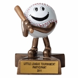 SMALL RESIN BASEBALL TROPHY