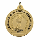 1-1/2 INCH ACHIEVEMENT MEDAL FOR IMPRINT, GOLD