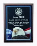 6 X 8 INCH EAGLE PHOTO PLAQUE WITH LASER ENGRAVED PLATE