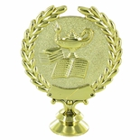 LAMP OF LEARNING WREATH TROPHY FIGURE