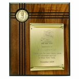 10 X 12 INCH GENUINE WALNUT PLAQUE WITH SCROLL PLATE TAKES INSERT
