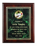 9 X 12 INCH PLAQUE WITH MARBLEIZED PLATE TAKES INSERT