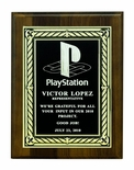 6 X 8 INCH PLAQUE WITH EMBOSSED BLACK SCREENED PLATE