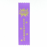 PERFECT ATTENDANCE 1-5/8 X 6 PURPLE STOCK RIBBON