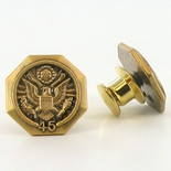 U.S. FEDERAL YEARS OF SERVICE GOLD PIN - 45 YEARS