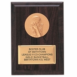 4-1/4  X  6  INCH PLAQUE WITH GOLD PLATE TAKES INSERT
