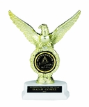 EAGLE TROPHY, 8 INCH, WHITE BASE, 2 INCH INSERT