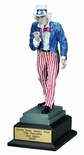 14-1/2 INCH UNCLE SAM TROPHY, PAINTED RESIN