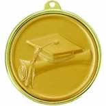 2-1/4 INCH GRADUATION, CAP AND SCROLL MEDAL, MULTIPLE COLORS