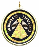 2-1/4 INCH IN HONOR OF EXCELLENCE MYLAR MEDAL