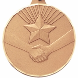 2 INCH HANDSHAKE WITH STAR, GOLD